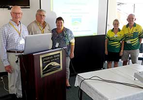 Pictured, from left, are club policy and town support member John Snell, Mr Smith, LPSC Environmental Services and Economic Development director Donna Ausling, Kaye Christie and club director Graham Christie.