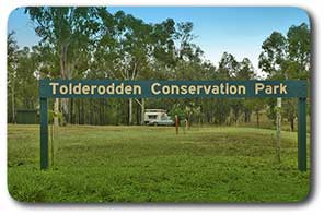Tolderodden Conservation Park sign