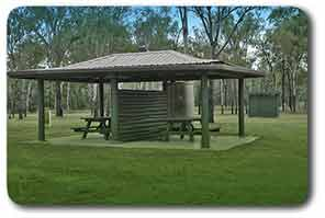 Picnic facilities at Tolderodden Conservation Park