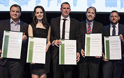 Future Leader finalists, from left, Stephen Edwards, Amanda Ferguson, Rob Gallagher, Michael McIvor