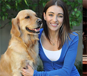 Dr Katrina Warren with one of her canine friends