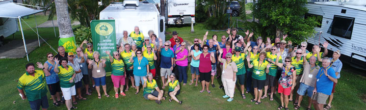 Australian Caravan Club members from four branches at their reccent muster