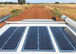 Solar panels add extra weight to a caravan, warns RACQ