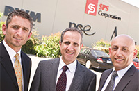 SBS 50th anniversary. Pictured are, from left, Nat Schiavello, SPS chairman Tony Pace and Tony Schiavello