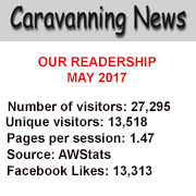 Caravanning News stats for May 2017