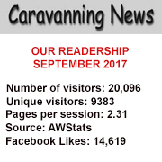 Readership statisitic for Caravanning News, Sept 2017