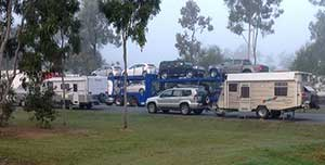 Caravans parked in the trucks-only area at Waverley Creek