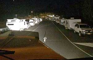 Dashcam footage from another truckie at NSW's Yelgun truck stop on the Pacific Highway at 5am one morning - full of grey nomads and no space for weary truckies.