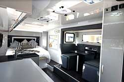 Interior of Zone RV's first ever slide-out caravan